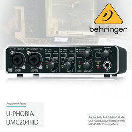 Звуковые карты - BEHRINGER UMC204HD U-PHORIA Внешняя звуковая…, 0