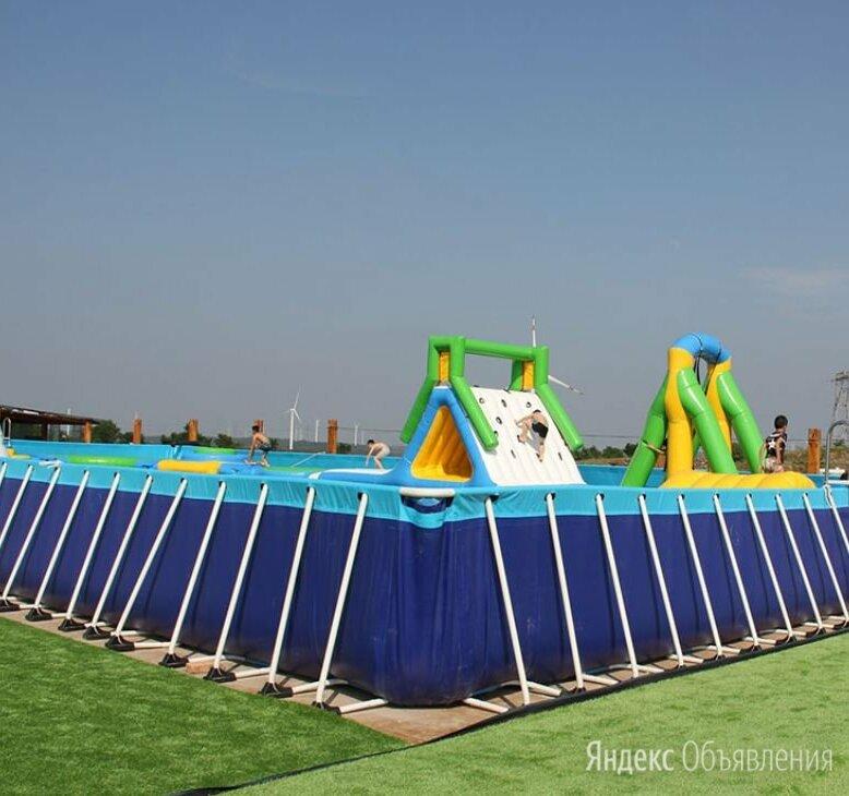Каркасный летний бассейн для турбазы 10 x 20 x 1 метр по цене 989770₽ - Бассейны, фото 0