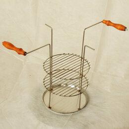 Тандыры - Решётка трехъярусная с деревянными ручками, 0