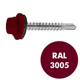 Шурупы и саморезы - Саморез кровельный металл/дерево 4,8х35 RAL 3005, 0