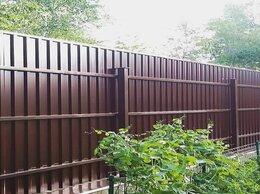 Металлопрокат - Забор Заборы ворота из профнастила установка, 0