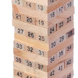 """Настольные игры -  Настольная игра """"Падающая башня"""", дерево, 5,5х5,5х18,5см, 0"""