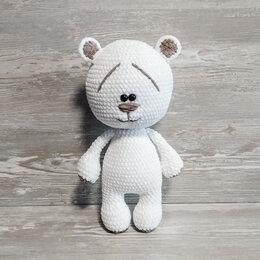 Рукоделие, поделки и сопутствующие товары - Вязаная игрушка белый мишка, 0