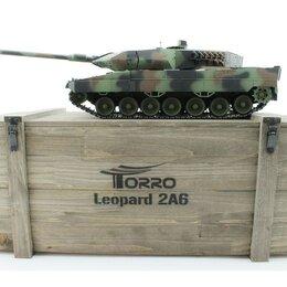 Радиоуправляемые игрушки - Р/У танк Taigen 1/16 Leopard 2 A6 (Германия) САМО 2.4G RTR, деревянная коробка, 0