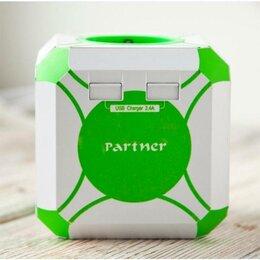 Источники бесперебойного питания, сетевые фильтры - Новый Удлинитель 1,5м Partner mini CUBE белый, 0