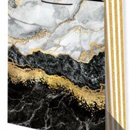 Подарочная упаковка - Пакет подарочный Мрамор черный 33х45 см, 0