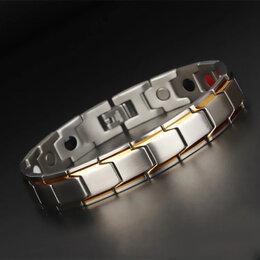 Браслеты - Браслет из ювелирной стали с магнитными вставками, 0