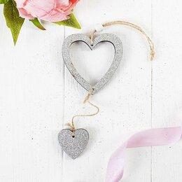 Кулоны и подвески - Подвеска Серебряное сердце, 0