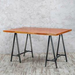 Столы и столики - Обеденный стол с металлическими ножками 90х135…, 0
