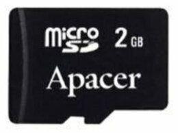 Карты памяти - Micro SD Карта памяти 2 GB Apacer, 0