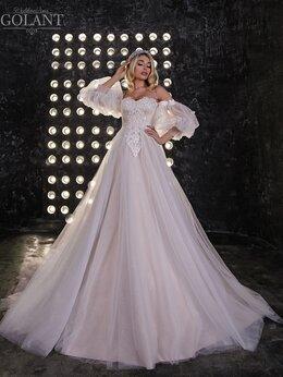 Платья - Блестящее свадебное платье с модными рукавами…, 0
