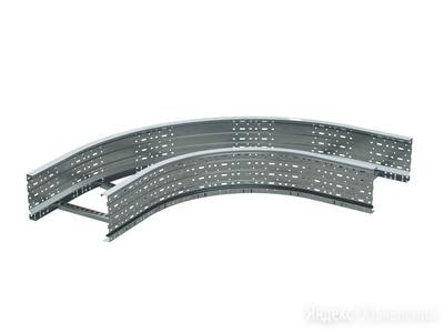 DKC Угол лестничный 90 градусов 100x200, цинк-ламель по цене 9083₽ - Кабеленесущие системы, фото 0