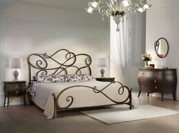 Кровати - Кровать кованая в стиле модерн, 0