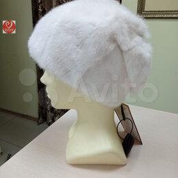 Головные уборы - Белая норковая шапка, 0
