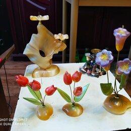 Сувениры - цветы из селенита тюльпаны  и колокольчики, 0