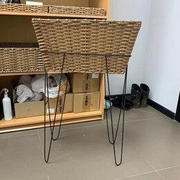 Мебель для учреждений - Стойка металлическая с корзиной , 0