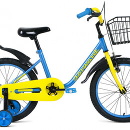 Трехколесные велосипеды - Детский велосипед Barrio 18 синий (2020), 0