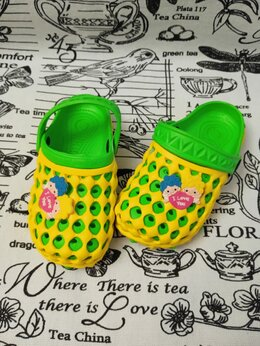 Шлепанцы - Детские сабо для девочки, цвет: желтый, артикул:…, 0
