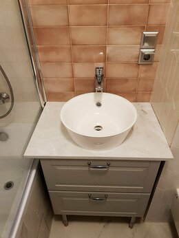Столы и столики - Столешница для ванной комнаты из искусственного…, 0