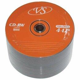 Диски - Диски CD-RW VS 700 Mb 4-12x, КОМПЛЕКТ 50 шт.,…, 0