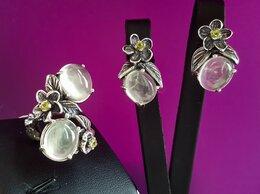 Комплекты - Комплект серебро с натуральными пренитами и…, 0