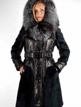 Пальто - Зимнее пальто из натуральной кожи с мехом, 0
