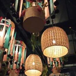 Люстры и потолочные светильники - Купить плафоны плетеные абажуры, 0