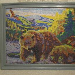 """Картины, постеры, гобелены, панно - Картина """" Медведица с медвежонком"""", 0"""