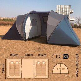 Палатки - Палатка двухкомнатная 4-х местная с большим тамбуром высота 180 см, 0