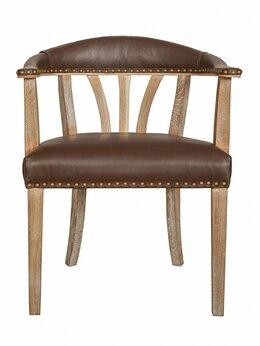 Стулья, табуретки - Кухонный стул со спинкой коричневый Tanner…, 0