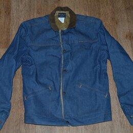 Куртки - Куртка джинсовая на меху Wrangler Blue Bell, Made in USA, 0