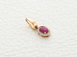 Кулоны и подвески - Подвеска с рубином и 18 бриллиантами из красного…, 0
