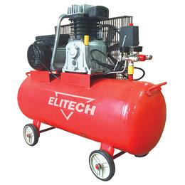 Воздушные компрессоры - Компрессор масляный ремен. Elitech КПР 100/450/2.2, 0