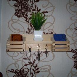 Настенные ключницы и шкафчики - Полка ключница, 0