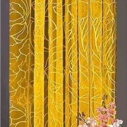 Шторы - Гардина-тюль желтая (150х250см), 0