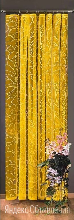 Гардина-тюль желтая (150х250см) по цене 900₽ - Шторы, фото 0