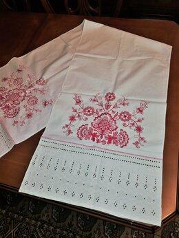 Полотенца - Рушник, вышитое полотенце, лен, кружево, 0