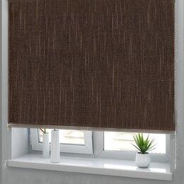 Римские и рулонные шторы - Рулонная штора Еврокомфорт 26 коричневая 1400*1800, 0