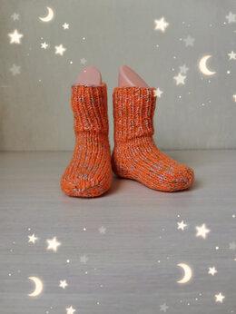 Носки - Вязаные детские носочки (ручная работа) , 0