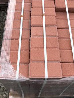 Тротуарная плитка, бордюр - Тротуарная плитка 100х200 красная , 0