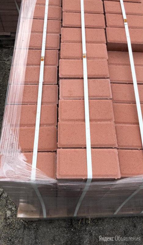 Тротуарная плитка 100х200 красная  по цене 550₽ - Тротуарная плитка, бордюр, фото 0