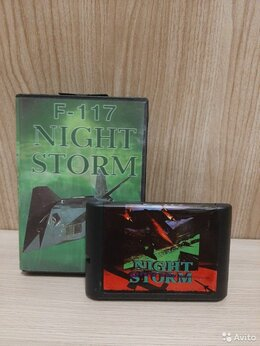 Игры для приставок и ПК - Картридж (Sega) F-117 Night Storm, 0