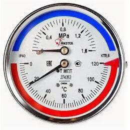 Датчики температуры, влажности и заморозки - Термоманометр ФТ МПТ 0…150C°/0…1 МПа кт.2,5 d.100 IP40 G1/2 ОШ L46, 0