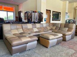 Диваны и кушетки - диван угловой модульный в стиле печворк кожа , 0