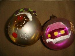 Ёлочные украшения - Елочная игрушка стекло шары большие с рисунком…, 0