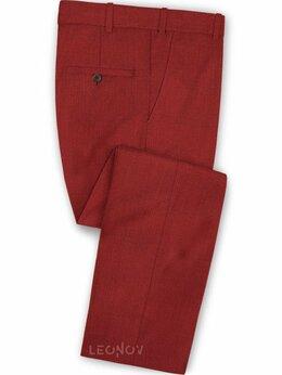 Брюки - Красные брюки из шерсти – Scabal, 0