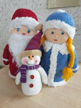 Статуэтки и фигурки - Фигурки Дед Мороз и Снегурочка ручной работы Новые, 0