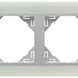 Фоторамки - 4-х местная рамка, стекло / алюминий, Efapel, 0