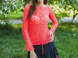 Блузки и кофточки - Вязаная розовая блузка, 0