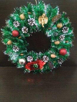 Рукоделие, поделки и товары для них - Рождественский венок на двери, 0